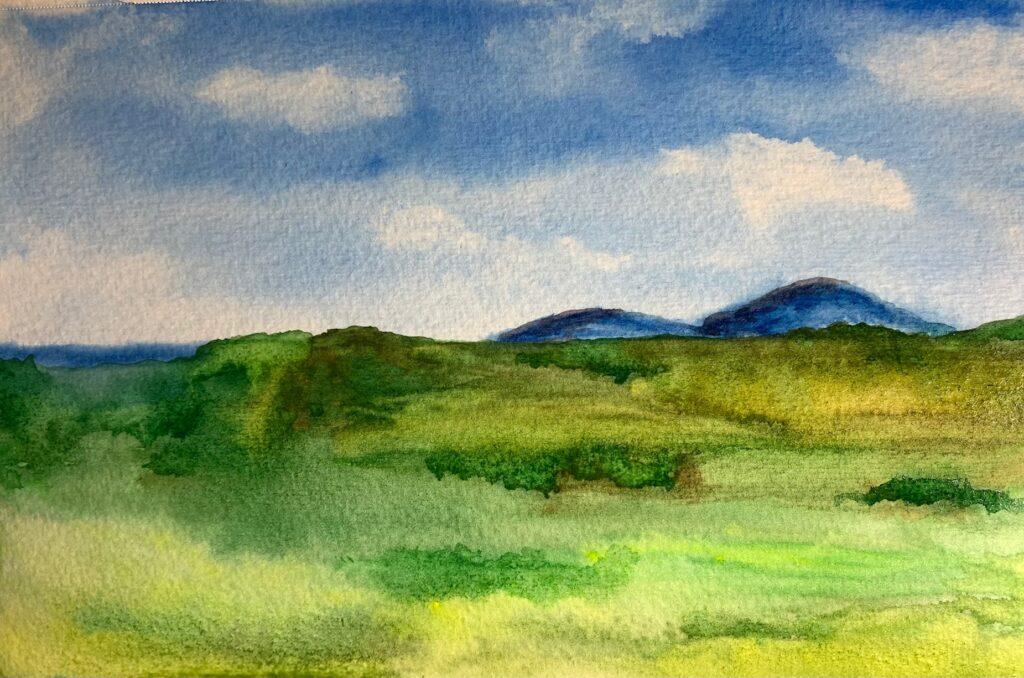 summer painting #43 watercolor landscape