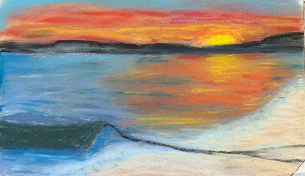 one image several mediums - soft pastels